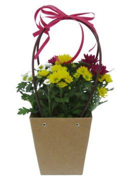 Чанта с хризантеми - различни цветове
